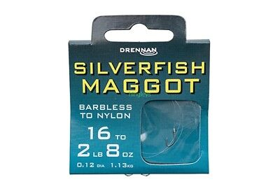 Drennan Barbless Silverfish Maggot hooks to nylon Coarse Fishing