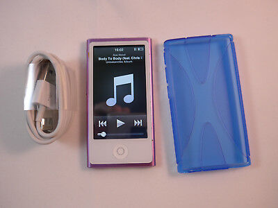 apple ipod nano 7 generation blau 16 gb 7g display ohne. Black Bedroom Furniture Sets. Home Design Ideas