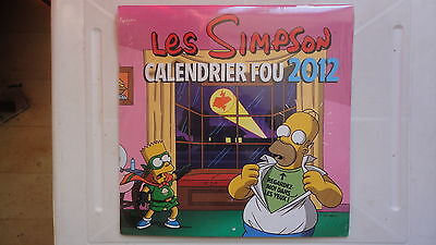 Calendrier Les Simpson 2012 Neuf