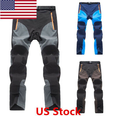 US New Outdoor Mens Warm Waterproof Hiking Climbing Pants Sport Combat Trouser