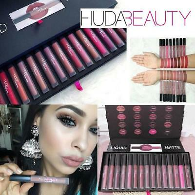 New Huda Beauty Liquid Matte Full Collection 16PCS Lipstick &Boxes For Gift~~