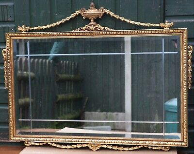 Super Quality Looking Very Large Ornate Gilt Framed Bevel Edged Wall Mirror