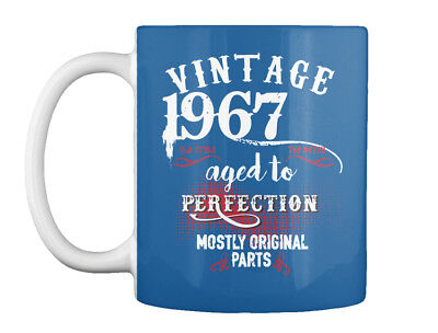 Birthday T 1967 - Vintage Old Style Top No Tch Aged To Gift Coffee Mug