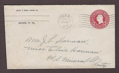 mjstampshobby 1937 US Vintage Cover Used (Lot4918)