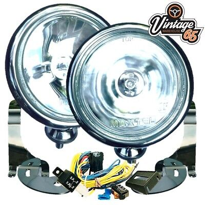 BMW Mini R50 52 R53 2001 to 2006 Chrome Spot lights Lamps Brackets Wiring Kit