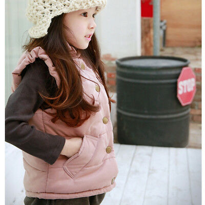 Winter Autumn Outerwear Girl Vest Baby Sleeveless Jacket Child Kids Vest