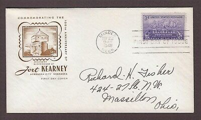 mjstampshobby 1948 US Military Blockhouse at Fort Kearney FDC Used (Lot4921)