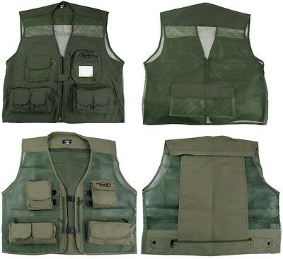 Work York Mesh & Mesh 2 Hunting Vest fischerweste with Many Bags Size L-XXL