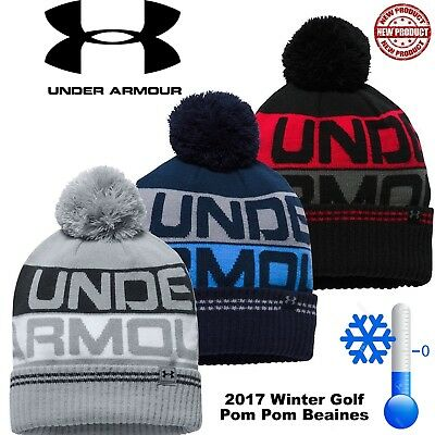 Under Armour Winter Hat Golf Beanie Hat Under Armour Bobble Hat Pom Pom Hat New