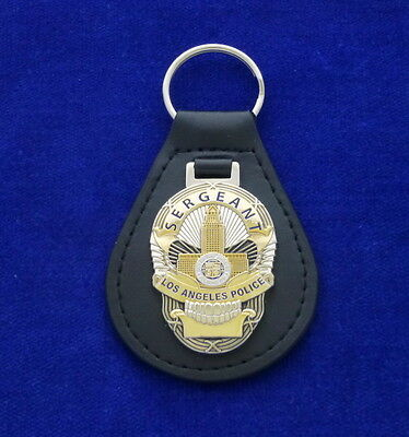 "LAPD Sergeant ""Skull"" Leather Key Ring #US1"
