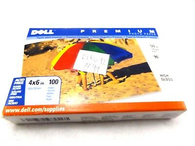 """Dell Premium Photo Paper 4"""" x 6"""" 100 Sheets High Gloss  New, Sealed"""