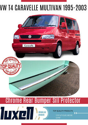 VW T4 Caravelle Multivan Chrome Rear Bumper Protector Scratch Guard S.Steel