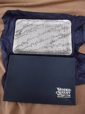 Vendell August Forge, Berlin - Hand Made Aluminium Tray With A Willow Pattern
