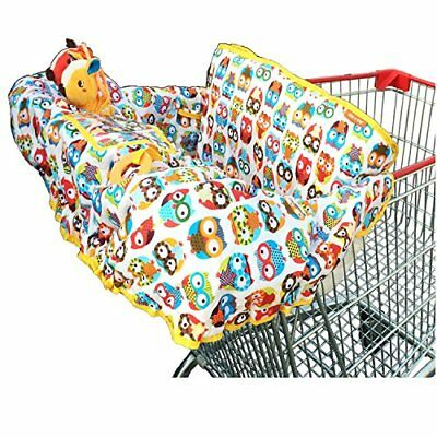 Crocnfrog 2-in-1 Cotton Shopping Cart Cover | High Chair Cover for Baby