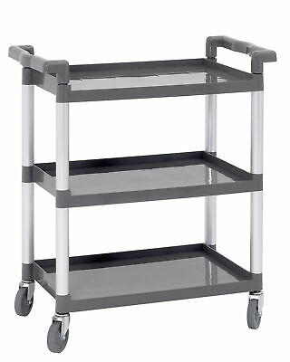 4 Castors Serving Cart with 3 Borde 120 kg Buoyancy Clearing Trolley