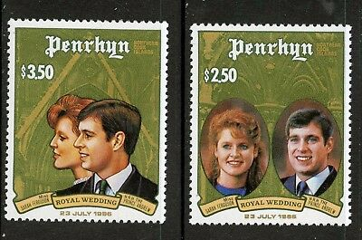 Penrhyn Islands   1986   Scott # 343-344    Mint Never Hinged Set