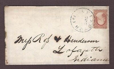 mjstampshobby 1859 US Vintage Cover with Letter Used (Lot4746)