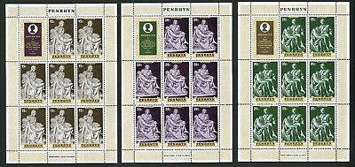 Penrhyn Islands   1976   Scott # 76-78    Mint Never Hinged Sheet