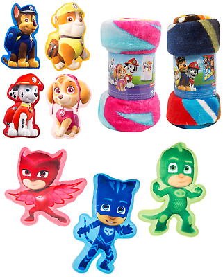 Kids Paw Patrol Cushion Chase,Skye Fleece Throw Blanket,Gekko,Catboy Kids Gift