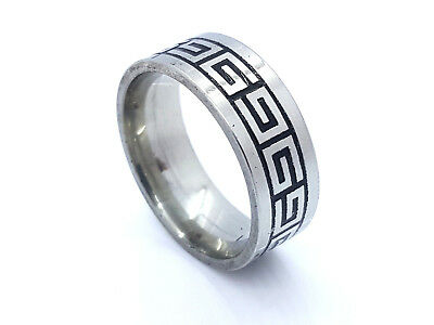 Ring Band Stainless Steel 316L Roman Style Men's Women's Design