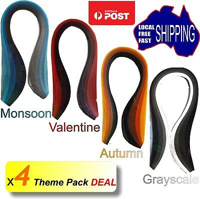400 x 3mm.  4 x Theme Pack Deal. Quilling paper strips craft paper