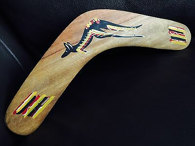 "New Australian Buanbiri Tribe Aboriginal Decorated Native Timber 12"" Boomerang"