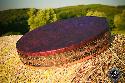 18'Shaman drum, Frame drum, new moon drum,Stage drum,Deer Hide paited with herbs