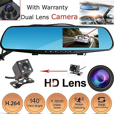 Dual Lens Vehicle Front Rear DVR Camera Car Dash Cam Video Recorder HD1080P UK