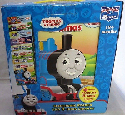 New* Thomas and Friends- Electronic Me Reader and 8-book Library Lot# EB13