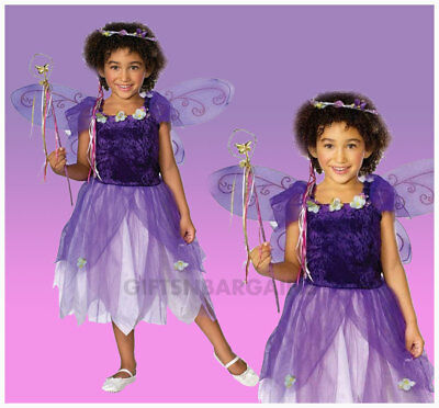 Plum Pixie Costume Purple Spring Fairy Wings Wand Tiara Child Dress Girls S / M  sc 1 st  PicClick UK & GIRLS PURPLE Plum Pixie Fairy Princess with Wings u0026 Wand Book Day ...