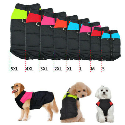 Winter Waterproof Small/ Large Pet Dog Clothes Warm Padded Coat Pet Vest Jacket