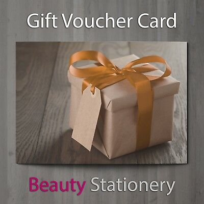 Gift Voucher Beauty Salon Blank Card Christmas Nail Massage Present A7 + Env.
