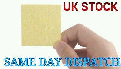 3x Sponge Soldering Iron tip Welding Cleaning Cleaner for Solder Cleaning Yellow