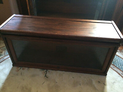 Antique Globe Wernicke Oak Barrister Bookcase Single TALL Stack and Top