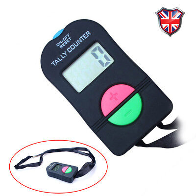 1X Black Digital Hand Tally Counter Electronic Manual Clicker Golf Gym Security
