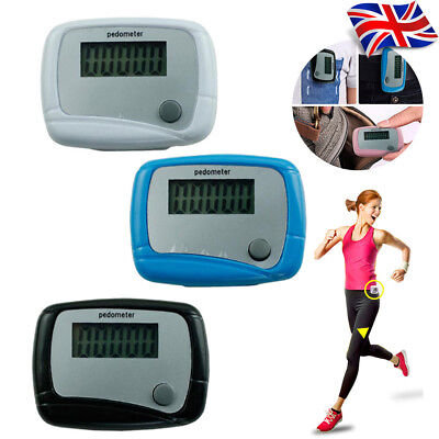 1Pcs LCD Pedometer Step Walking Jogging Hiking Calorie Counter Distance Fitness