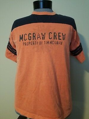 ~NICE!~ 2000 Property of TIM McGRAW CONCERT  T-SHIRT JERSEY ~ MCGRAW CREW ~LARGE
