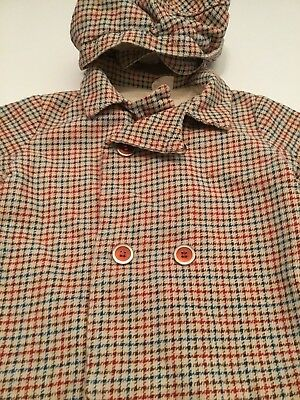 Vintage Boys/Girl THOMAS Toddlers SIZE 3 Coat Jacket/Hat Cap Houndstooth Fabric