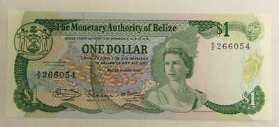 The Monetary Authority of Belize $1 One Dollar Banknote - June 1980 - UNC