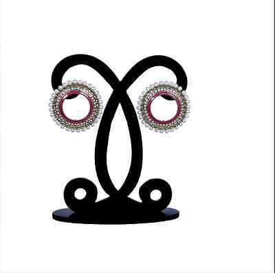 Designer Indian Traditional Fashion Accessory Fancy Mina Work Hanging Earrings