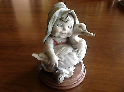 Giuseppe Armani Girl with Goose Figurine 1980 from the Gulliver travels
