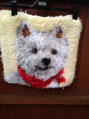 Scotty Dog Latch Hook Kit Cushion Cover
