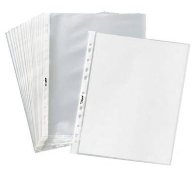 """400Sleeves Clear Plastic Sheet Page Protectors Document Office ACID Free 8.5x11"""""""