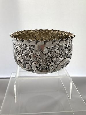 Solid Silver Victorian Bowl 1891 Sheffield Henry Wigfull