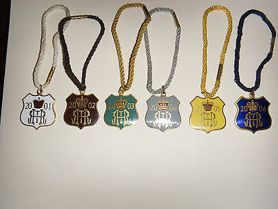 6 Enamelled Henley Royal Regatta Stewards Badges & Cord.