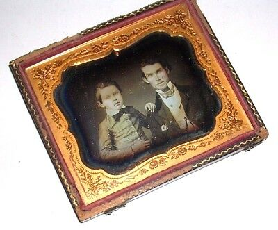 Sixth Plate Horizontal Daguerreotype of Two Brothers