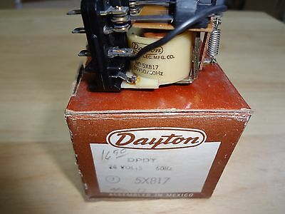 Dayton 5X817 Dpdt Double Pole Double Throw 24 Volt Relay New In The Box (3B)
