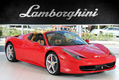 2013 Ferrari 458 Base Convertible 2-Door MAINTENANCE INCLUDED!+CARBON FIBER INTERIOR+CARBON FIBER SEATS+DUO TONE INTERIOR