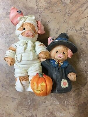 "TLP Enesco The Little Pig Halloween  Figurine 1995 ""You Are Such A Treat Mummy!"""