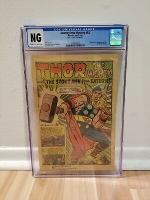Journey Into Mystery #83 CGC NG Incomplete Original 1962 1st App of Thor!